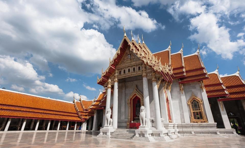 Templo de Mármol de Bangkok también llamado Wat Benchamabophit