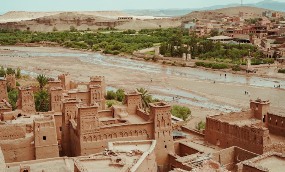 Vista desde el interior de Ait Ben Haddou