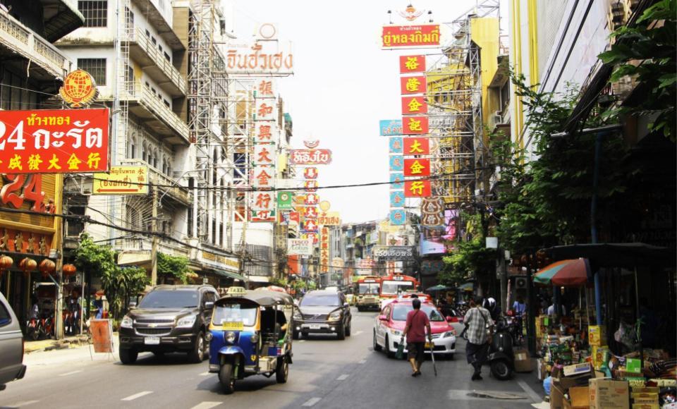 Barrio de Chinatown por el día