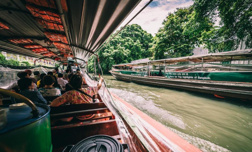Paseo por los canales o Klongs de Bangkok