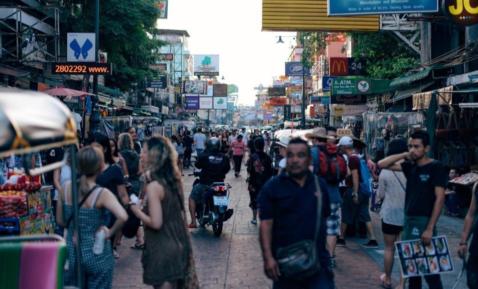 Calle Khao San Road en Bangkok